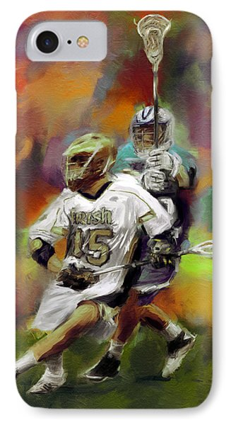 College Lacrosse 13 IPhone Case by Scott Melby