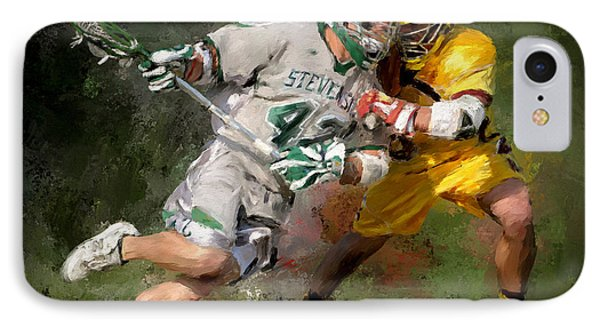 College Lacrosse 8 IPhone Case by Scott Melby