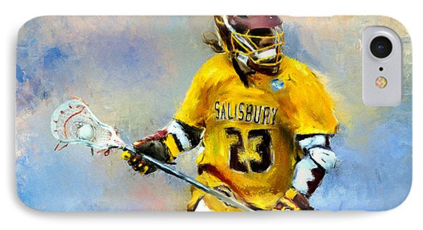 College Lacrosse 9 IPhone Case by Scott Melby