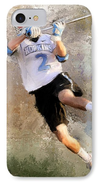 College Lacrosse Shot 2 IPhone Case by Scott Melby