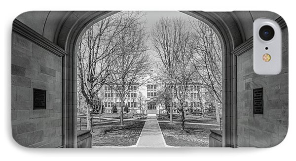 College Of Wooster Kauke Hall Arch  IPhone Case by University Icons