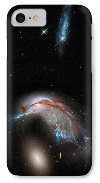Colliding Galaxy IPhone Case by Marco Oliveira