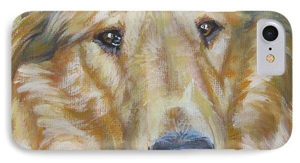 Collie Close Up IPhone Case by Lee Ann Shepard