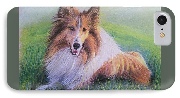 Collie IPhone Case by Dave Luebbert