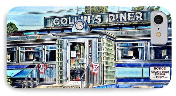 Collin's Diner New Canaan,conn IPhone Case by MaryLee Parker