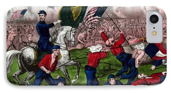 Colonel Michael Corcoran At The Battle Of Bull Run IPhone Case by American School