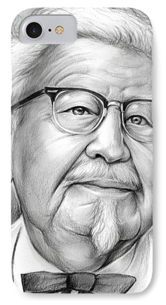 Colonel Sanders IPhone Case by Greg Joens