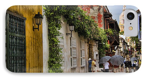 Colonial Buildings In Old Cartagena Colombia IPhone Case
