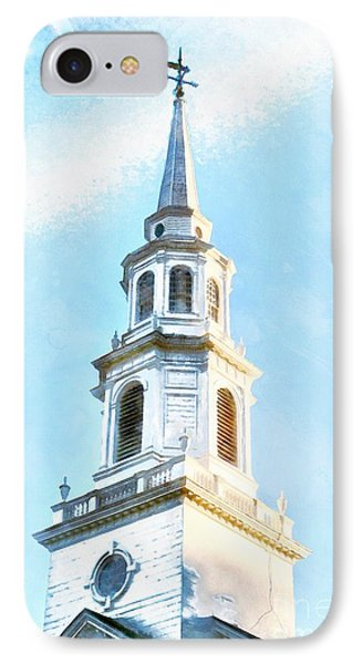 Colonial Church Concord IPhone Case by Edward Fielding