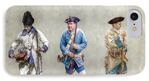 Colonial French Soldier Review Phone Case by Randy Steele