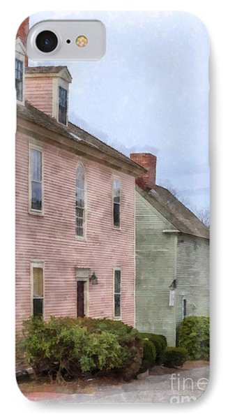 Colonial Houses Of Portsmouth New Hampshire IPhone Case by Edward Fielding
