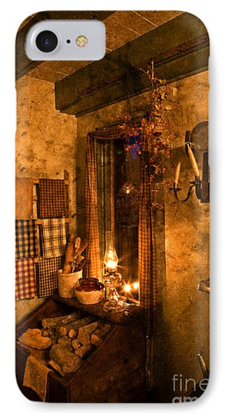 Colonial Kitchen Evening IPhone Case