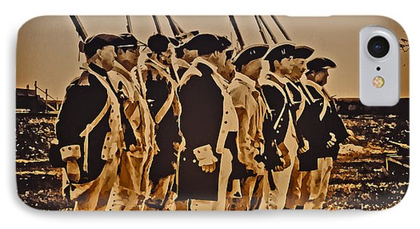 Colonial Soldiers On Parade Phone Case by Bill Cannon