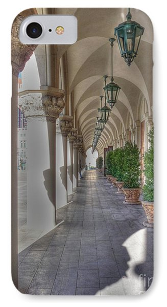 Colonnade At The Venetian Phone Case by David Bearden