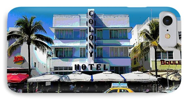 Colony Hotel  IPhone Case by Roesch