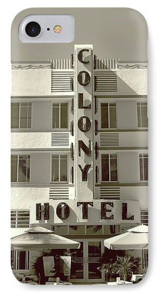 Colony Hotel South Beach IPhone Case