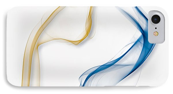 Color And Smoke IIi - Dance IPhone Case by Scott Norris