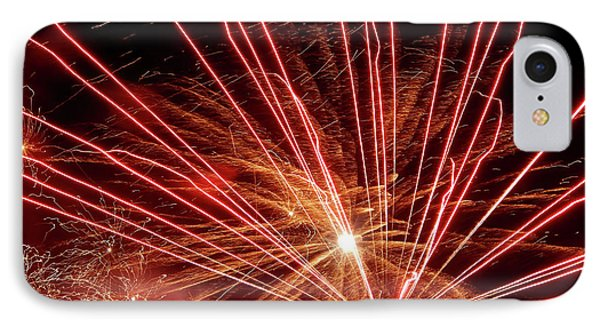 IPhone Case featuring the photograph Color Blast Fireworks #0731 by Barbara Tristan