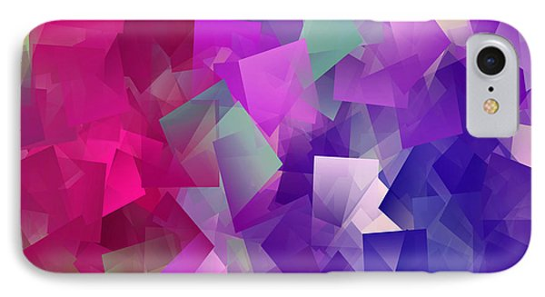 Color Block - Purples IPhone Case by Marianna Mills