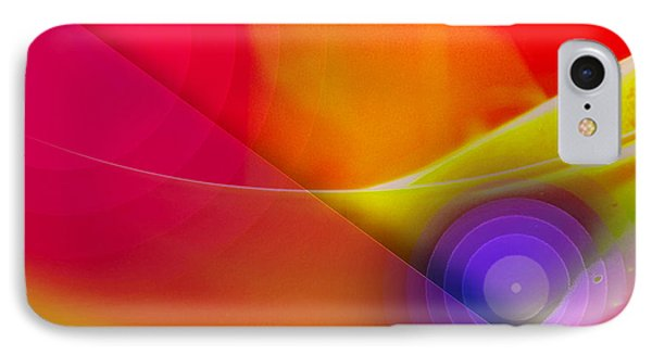 Color Burst Rainbow Abstract IPhone Case by Andee Design