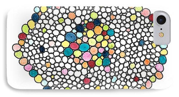 Color Cells IPhone Case by Jill Lenzmeier