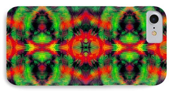 Digital Mirroring Abstract Art IPhone Case by Tianxin Zheng