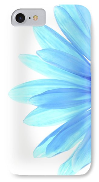 Flowers iPhone 7 Case - Color Me Blue by Rebecca Cozart