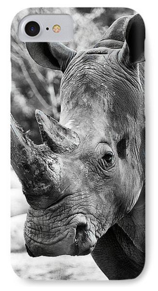 IPhone Case featuring the photograph Color Me Rhino by John Haldane