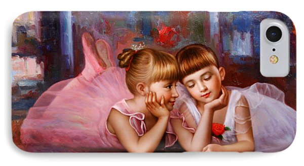 Color Of Melody -two Young Ballerina IPhone Case