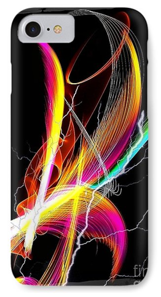 IPhone Case featuring the digital art Color Palm By Nico Bielow by Nico Bielow