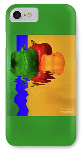 IPhone Case featuring the photograph Color Pop Peppers By Kaye Menner by Kaye Menner