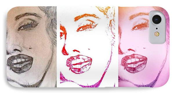 Color Rendition Of Marilyn Monroe #3 IPhone Case