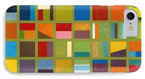 Color Study Collage 64 Phone Case by Michelle Calkins