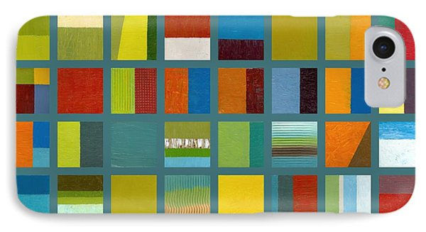 Color Study Collage 67 Phone Case by Michelle Calkins