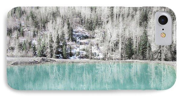 Colorado Aqua Woodland Forest Landscape IPhone Case by Andrea Hazel Ihlefeld