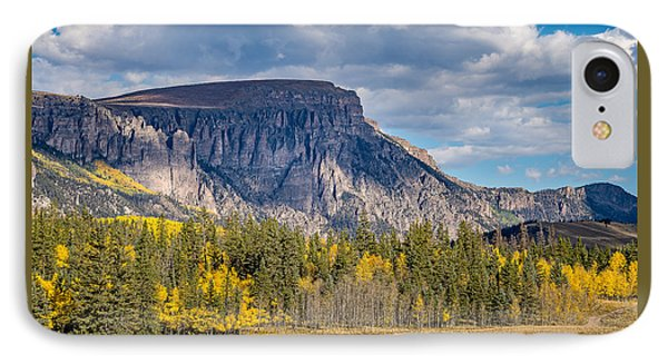 Colorado Fall Landscape With Aspen Trees Between Creede And Lake IPhone Case