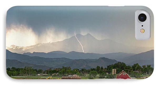 IPhone 7 Case featuring the photograph Colorado Front Range Lightning And Rain Panorama View by James BO Insogna
