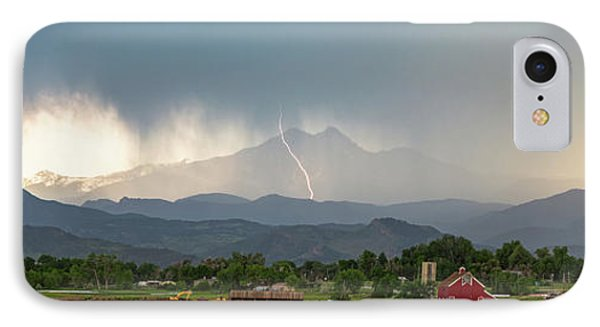 IPhone Case featuring the photograph Colorado Front Range Lightning And Rain Panorama View by James BO Insogna