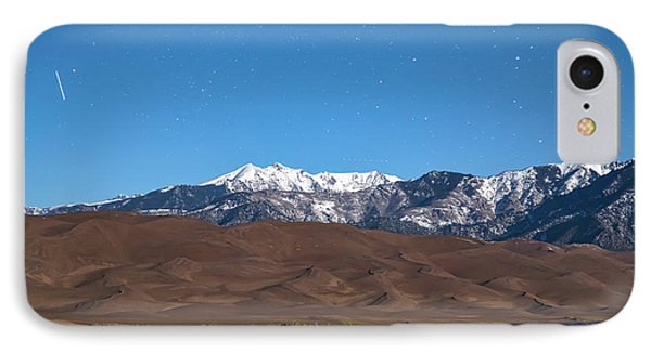 Colorado Great Sand Dunes With Falling Star IPhone Case by James BO Insogna