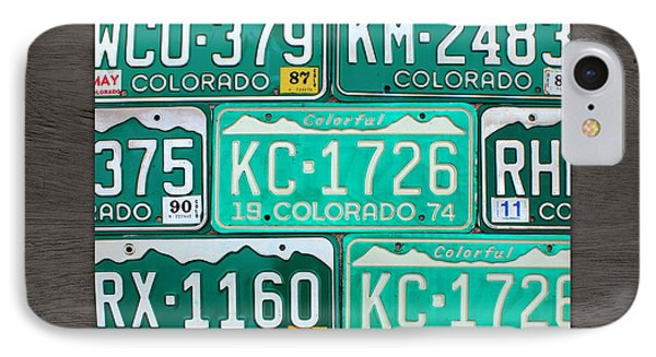 Colorado License Plate Map Recycled Car Tag Art IPhone Case by Design Turnpike
