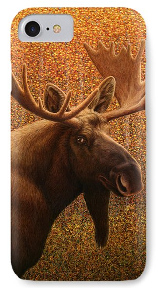 Colorado Moose IPhone Case by James W Johnson
