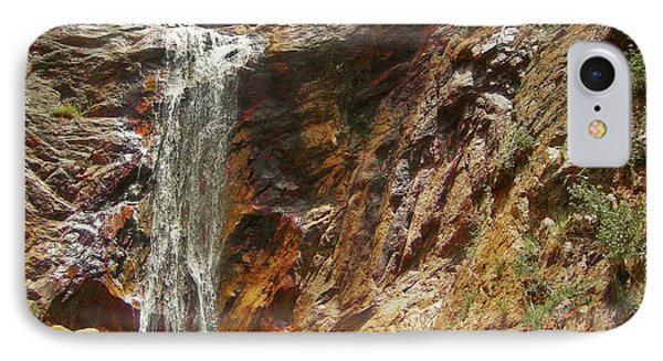 IPhone Case featuring the photograph Colorado Red Rock Waterfall by Andrea Hazel Ihlefeld