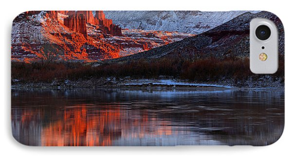 IPhone Case featuring the photograph Colorado Red Tower Reflections by Adam Jewell