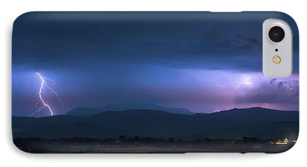 IPhone 7 Case featuring the photograph Colorado Rocky Mountain Foothills Storm by James BO Insogna