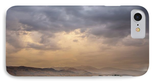 IPhone Case featuring the photograph Colorado Rocky Mountain Foothills Storms by James BO Insogna
