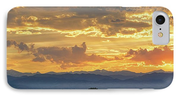 IPhone Case featuring the photograph Colorado Rocky Mountain Front Range Panorama Sunset by James BO Insogna