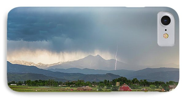 IPhone 7 Case featuring the photograph Colorado Rocky Mountain Red Barn Country Storm by James BO Insogna
