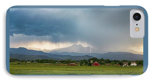 IPhone Case featuring the photograph Colorado Rocky Mountain Red Barn Country Storm by James BO Insogna