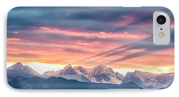 Colorado Rocky Mountain Sunset Waves Of Light Part 2 IPhone Case by James BO Insogna