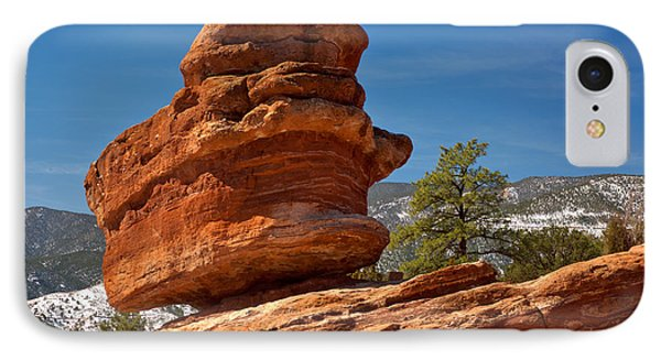 IPhone Case featuring the photograph Colorado Springs Balanced Rock by Adam Jewell